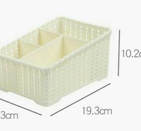 Rổ nhựa mini cho spa, nối mi, mỹ phẩm